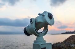 Coin operated monocular Royalty Free Stock Photos