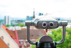 Coin operated panoramic telescope. Stock Photography
