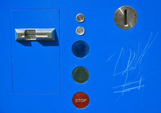 Coin operated parking automat Royalty Free Stock Photo