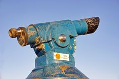Coin operated telescope Royalty Free Stock Image