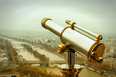 Coin operated telescope Stock Image