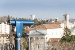 Coin Operated Telescope for Sightseeing. Stock Photo