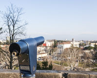 Coin Operated Telescope for Sightseeing. Royalty Free Stock Photo