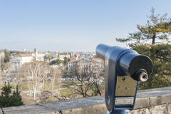Coin Operated Telescope for Sightseeing. Royalty Free Stock Images