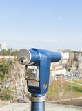 Coin Operated Telescope for Sightseeing. Stock Photos