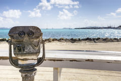 Coin operated telescope for sightseeing Royalty Free Stock Photography