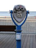 Coin Operated Viewfinder Includes View of Boardwalk and Ocean in Santa Cruz, California. Stock Photo