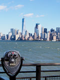 Coin Operated Viewing Scope for New York City Skyline Stock Image