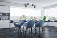 Coin panoramique blanc de salle à manger illustration libre de droits