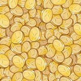 Coin pattern royalty free stock photography