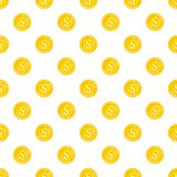 Coin pattern, cartoon style. Coin pattern. Cartoon illustration of coin vector pattern for web Royalty Free Stock Image
