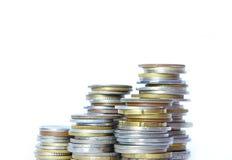 Coin pile Stock Photo