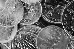 Coin Pile Background Stock Image