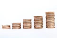 Coin piles Royalty Free Stock Photos