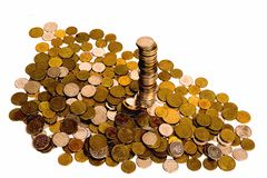 Coin plllar Royalty Free Stock Photography