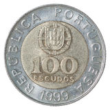 Coin Portuguese escudo Stock Images