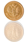 Coin of pure gold Royalty Free Stock Photo