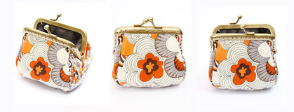 A coin purse. On white background Stock Image
