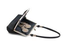 Coin purse in black Stock Photo