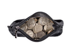 Coin Purse Full Of Coins Stock Images