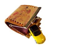 Coin Purse and Toy Car Royalty Free Stock Photos