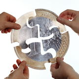 Coin puzzle Stock Photography