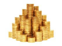 Coin pyramid. Stock Image