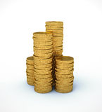 Coin pyramid Stock Image