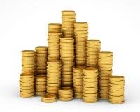 Coin pyramid Stock Photos