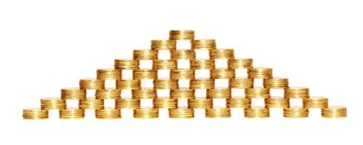 Coin pyramid. Royalty Free Stock Photography