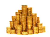 Coin pyramid. Stock Images