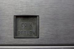 Coin Return Slot on a Pinball Machine Royalty Free Stock Photos