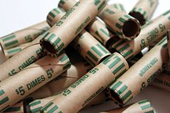 Coin Rolls stock photography