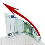 Coin rond d'euro graphique Photos libres de droits