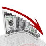 Coin rond du dollar de graphique Photos libres de droits