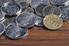 Coin Rupiah - Indonesian Money Royalty Free Stock Photography
