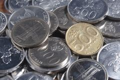 Coin Rupiah - Indonesian Money Stock Photos