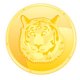 Coin with scene of the tiger Stock Images