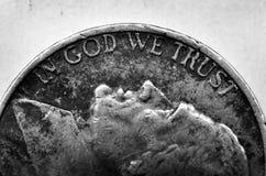 Coin of Silver American Money Stock Photos