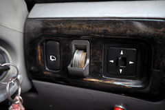 Coin slot in car. Use for collect your change Stock Photos