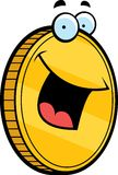 Coin Smiling. A cartoon gold coin smiling Royalty Free Stock Image