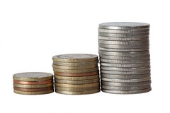 Coin stack Royalty Free Stock Photography
