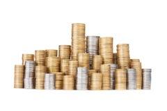 Coin stack Stock Photos