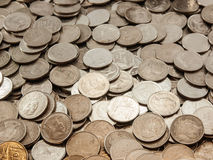 Coin stack Baht. Classification of currencyBath to bank Stock Images
