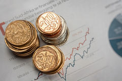 Coin stack Royalty Free Stock Photos