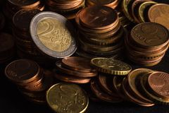 Coin stack, coin collection. Money growth royalty free stock photos