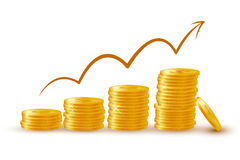 Coin stack. Illustration of coin stack on Stock Photography