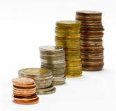 Coin stack isolated Stock Photography