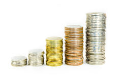 Coin stack Stock Photos