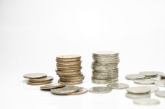 coin stack isolated on white Royalty Free Stock Photo